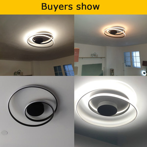 Image 5 - Modern Ceiling Lights For Living Room Bedroom Study Room dinning room White /black/gold color surface mounted Ceiling Lamp