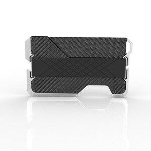 1 шт., держатель для карт из натуральной кожи RFID, металлический антимагнитный кошелек из алюминиевого сплава, сумка для банковских карт, EDC, м...