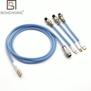 Изготовленные по индивидуальному заказу 3 Порты/Набор для домашних животных с двойными рукавами USB-TYPE C Micro 5P Mini кабель для Механическая клав...