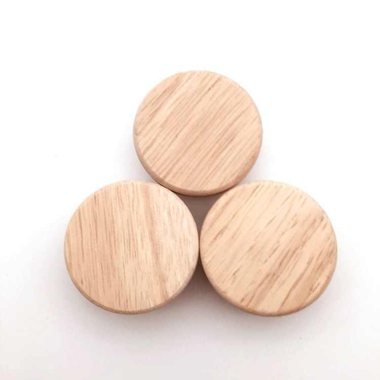 10X ホームアクセサリー 50 × 25 ミリメートル木製ノブ木製ラウンドキャビネットノブ引き出し靴箱食器棚キャビネットドア