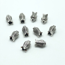 30pcs Arab Muslim prayer beads ancient silver tulip shaped connector for jewelry making tassels DIY handmade accessories