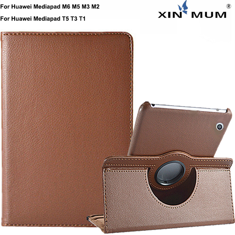 <font><b>360</b></font> Rotating Smart Case For Huawei Mediapad M6 M5 T3 T5 M2 T1 M3 Lite 8 8.4 10 <font><b>10.1</b></font> inch Business Tablet PU Leather Stand Cover image