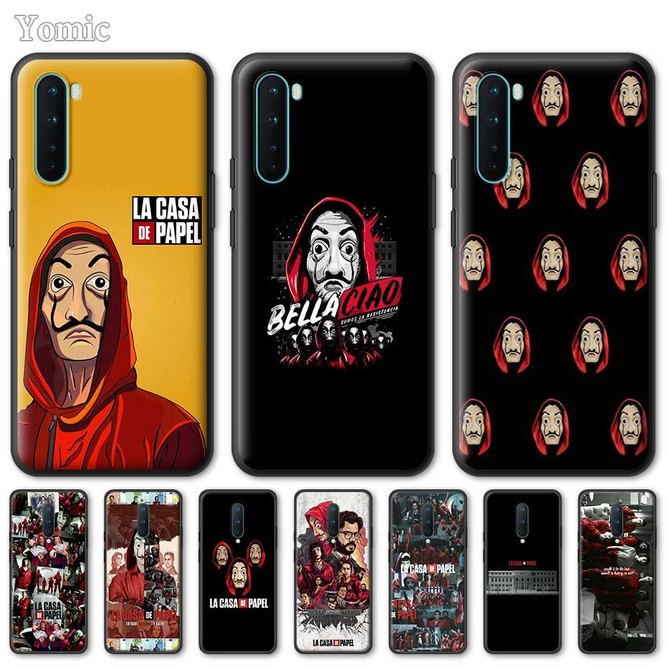 Silicone Phone Case For OnePlus Z 8 Nord 6T 6 7 7T Pro 5G Black Soft Coque La Casa De Papel TPU Cover Shell