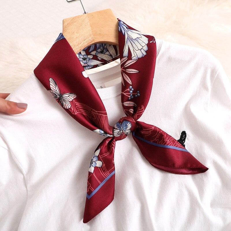 Lady Hair Band jedwabny szalik drukuj torba kwadratowa szaliki moda szalik głowy okłady dla kobiet chustka kobieta Foulard mały hidżab