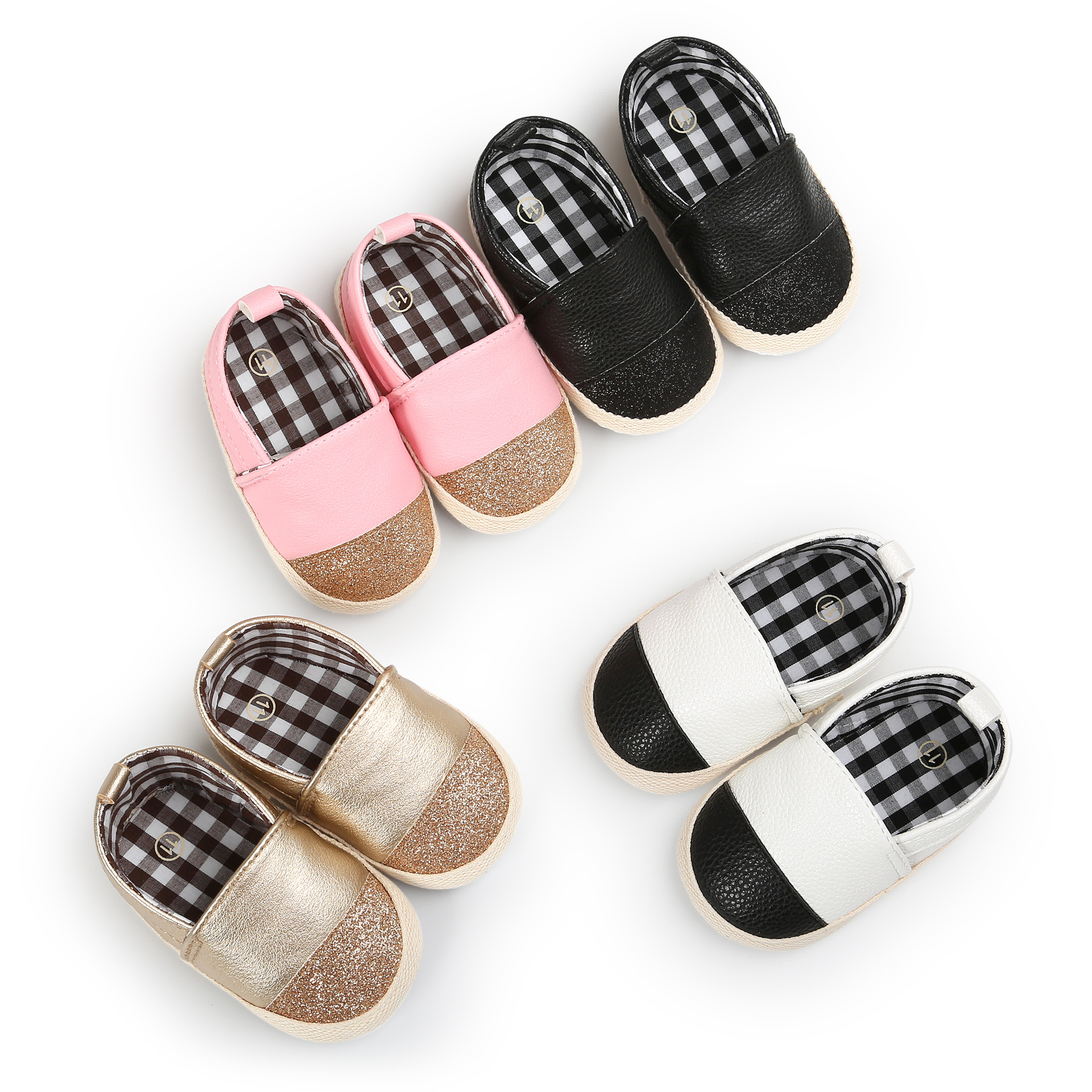 Spring And Autumn Color Matching Gold Powder With Baby Shoes Color Matching Shoes Boys And Girls Baby Feet Fashion Toddler Shoes