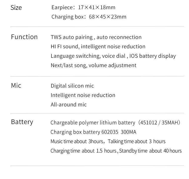 FineBlue J10 TWS Bluetooth V5.0 Earphones 6D Stereo Super Bass True Wireless Earbuds Intelligent Touch Control HD talking
