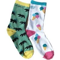 Currently Available Supply Jacquard Socks Bear Treasure Artwork Socks High School Students Athletic Socks Deodorizing Cylinder S