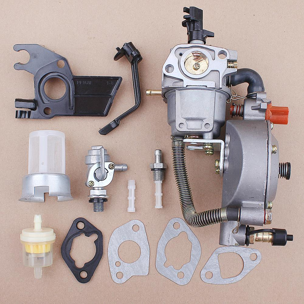 Dual Fuel Carburetor For 170F 168F Honda GX200 GX160 Water Pump Generator LPG NG Gasoline Home Garden Tool Accessories