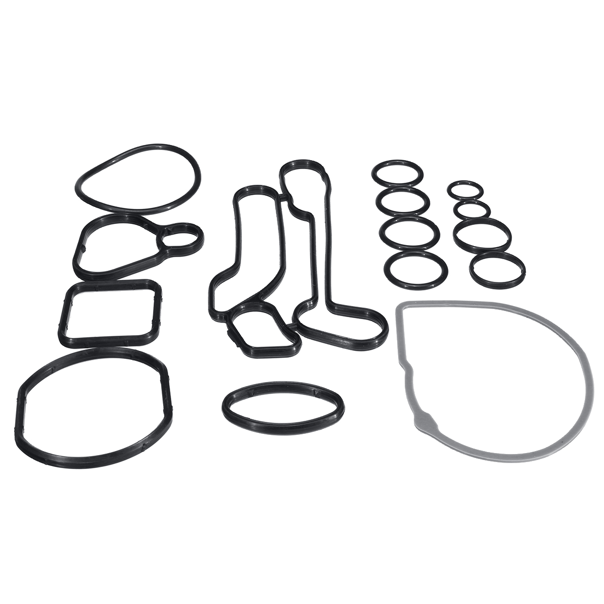 15Pcs Car Engine Oil Cooler Cooling System Filter Gasket Seal <font><b>24445723</b></font> 55354071 For Chevrole tCruze 1.6L 1.8L Sonic Astra Zafira image