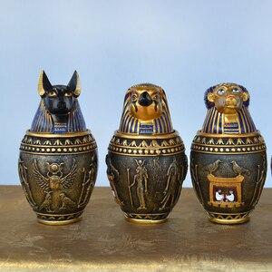 Древний Египет кот Бог канопическая банка для хранения статуэтки Фараон Святого смолы искусство и ремесло украшение дома