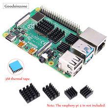 Радиатор raspberry pi 4 model b 4b набор радиаторов (4 шт/компл)