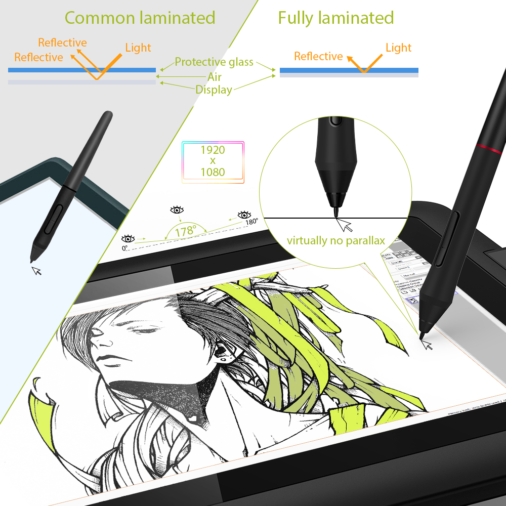 XP-Pen Artist 12 Pro 11.6 inches Graphics Tablet Drawing Tablet Graphic Monitor Animation Digital Art with Tilt 8192 pressure 2