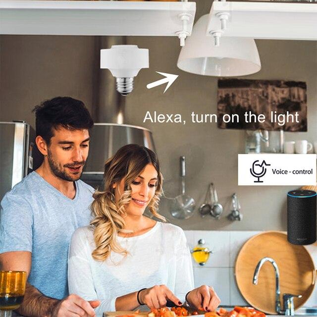 E27 WiFi Smart Light Bulb Socket Adapter APP control Lamp 4