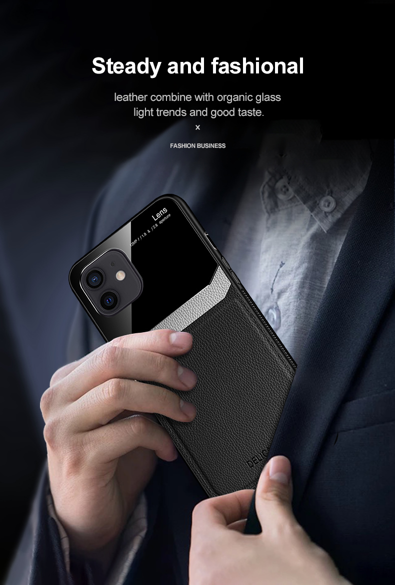 iPhone 12 Pro Max Leather Glass case