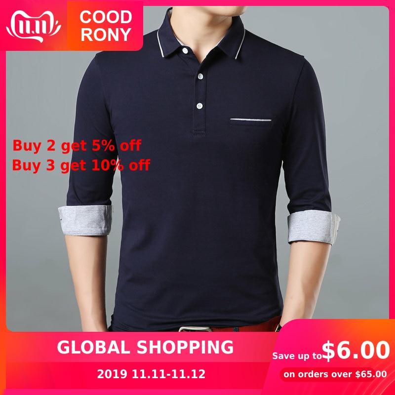 COODRONY Long Sleeve T Shirt Men Brand Business Casual Tshirt Men Turn-down Collar T-Shirt Men Soft Cotton Tee Shirt Homme 95005