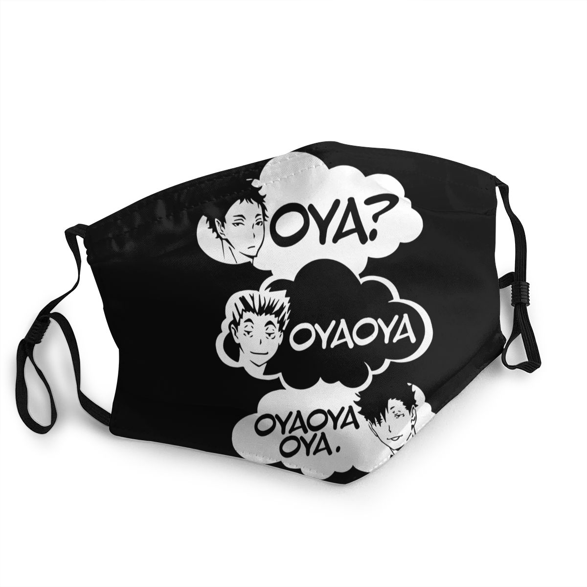 Oya Oya Oya Haikyuu Adult Face Mask Printed Kuroo Bokuto Oya Anti-Bacterial Dustproof Mask Protection Cover Respirator Muffle