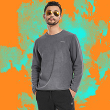 Autumn Winter Mens Fleece Warm Sport Tactical Tops Outdoor Running Riding Hiking Climbing Thick Thermal Breathable Pullover Coat new tactical autumn outdoor male long sleeve warm fleece sweater shirt mens elastic breathable thermal quick drying pullovers
