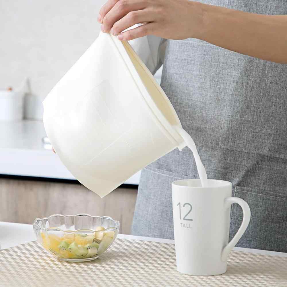 Große Wiederverwendbare Silikon Lebensmittel Tasche Frische Versiegelt Erhaltung Gefrierschrank Hohe Kapazität Luftdichten Dichtung Lagerung Ziplock Container