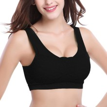 Women Yoga Gym Fitness Seamless Tank Workout Racerback Stretch Padded Crop Breathable Tops