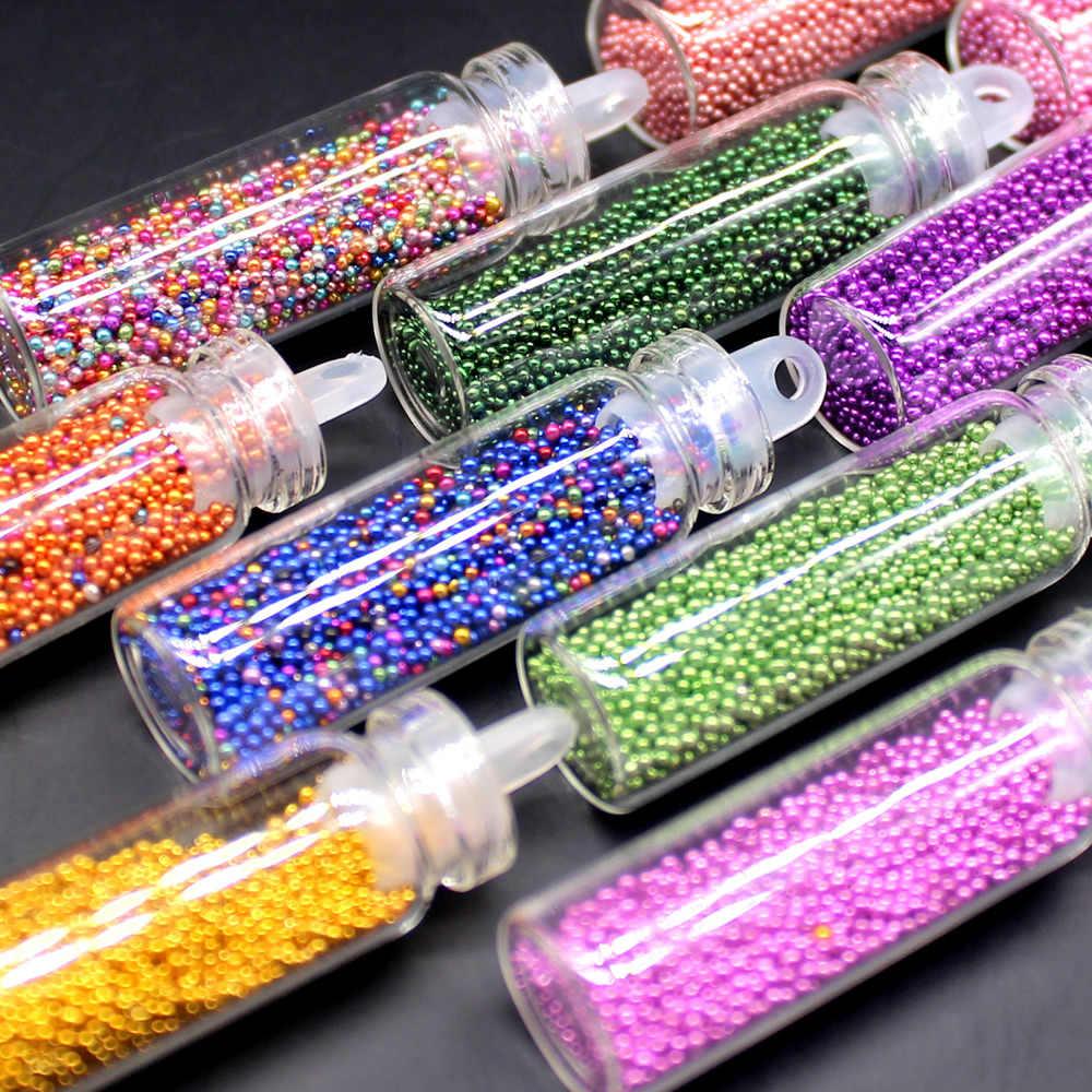 1 Doos 2018 Nieuwe Shining Sferische Vorm Nail Glitter Powder Dust 3D Nail Art Decoraties Nail Art Fles Hot Tip stickers Diy Tool