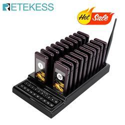 RETEKESS T111 restaurante busca camarero llamado sistema inalámbrico llamando al sistema de cola de 20 a zumbador Quiz de Servicio al Cliente de equipo