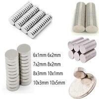 Kleine Mini Disc Leistungsstarke Runde Rare Earth Neodym Permanent Magneten Starke magnetische eisen 6X1 6X2 7X2 8X2 8X3 10X110X3 10X5mm