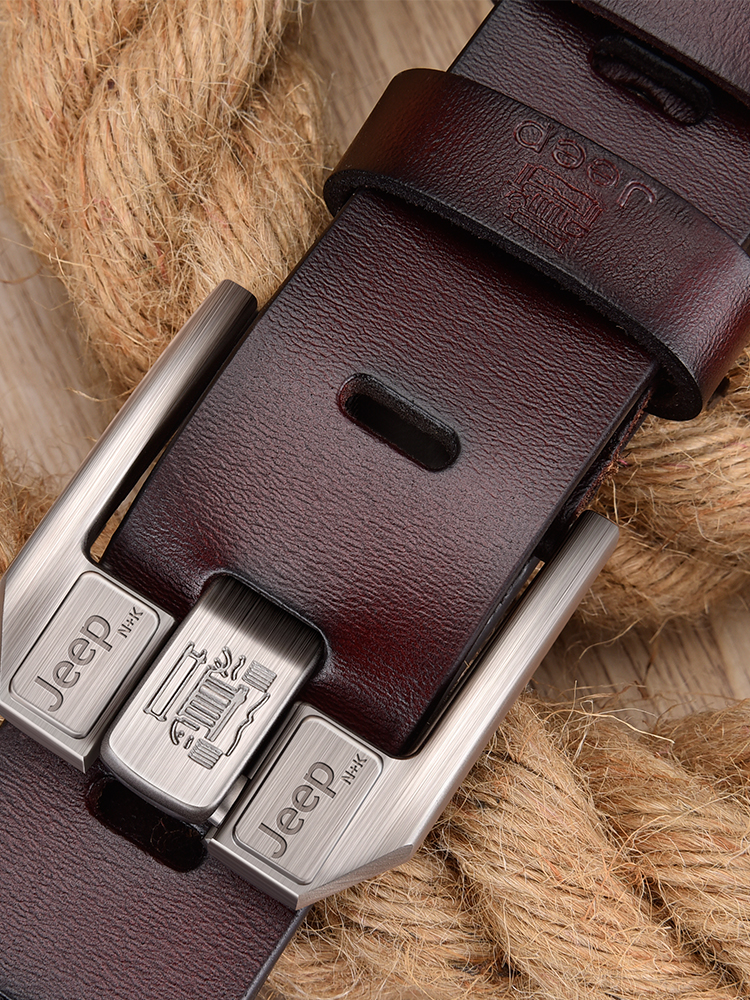 Luxury Brand Belt Jeans Alloy-Pin-Buckle Business JIFANPAUL Men's Genuine-Leather High-Quality