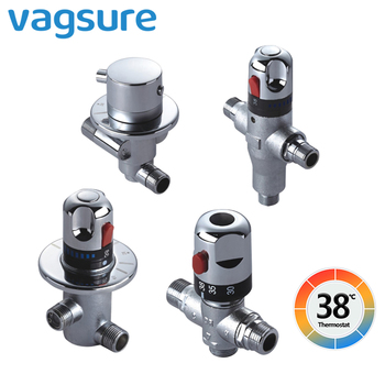 Concealed Brass Thermostatic Mixer for Shower System Water Temperature Control Faucet Control Valve Bathroom Faucet Valve G 1/2 thermostatic shower faucet 5 functions brass concealed valve wall mounted shower controller for bathroom showerheads