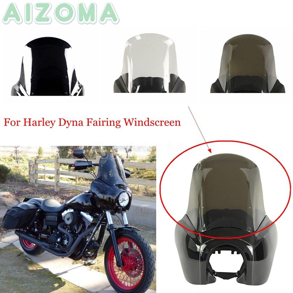 Обтекатель мотоциклетной фары, замена ветрового стекла для Harley Dyna Low Rider Street Fat Bob FXR FXD 1987-17