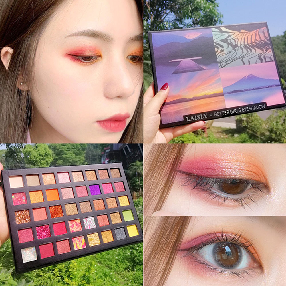 40 Color Matte Eyeshadow Pallete Shimmer Eye Shadow Make up Palette Eye Makeup Waterproof Mineral Powder