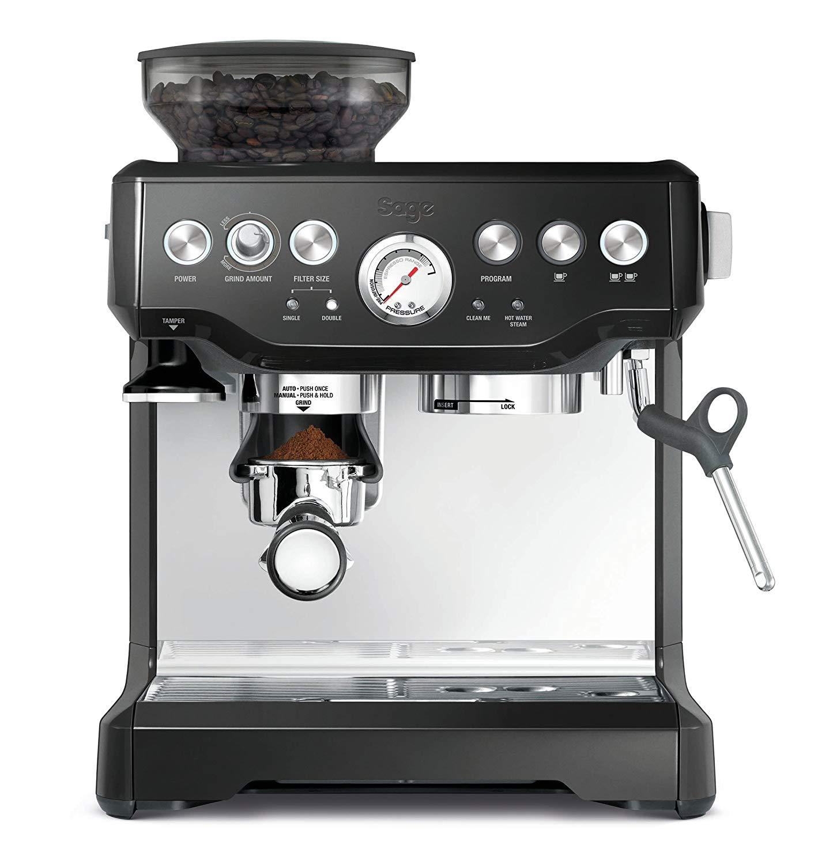 Espresso Coffee Maker Grind Beans Semiautomatic 15Bar Grinder Steam Coffe Machine 6