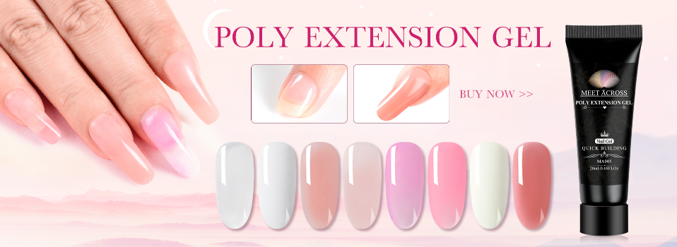 Poly Extension Gel Kits Nail Art French Nail Clear Camouflage Color Nail Tip Crystal Uv Gel Slice Brush Nail 1