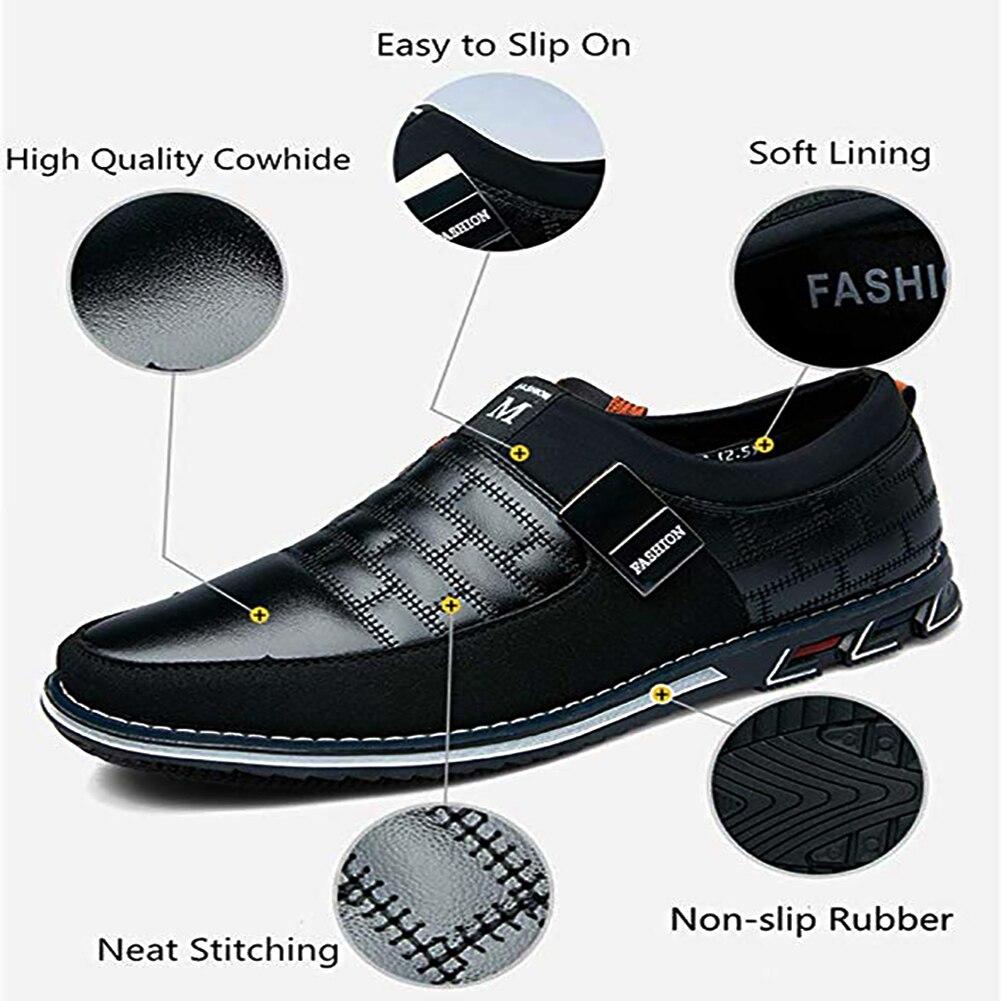 Image 2 - Оксфорды; кожаная мужская обувь; модная повседневная обувь без шнуровки; официальная обувь в деловом стиле; повседневная кожаная обувь для мужчин; Прямая поставкаПовседневная обувь   -