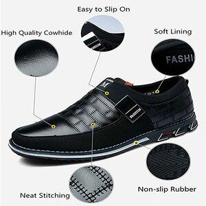 Image 2 - オックスフォードレザー靴ファッションでフォーマルなビジネスシューズのためのカジュアル革靴マンドロップシッピング