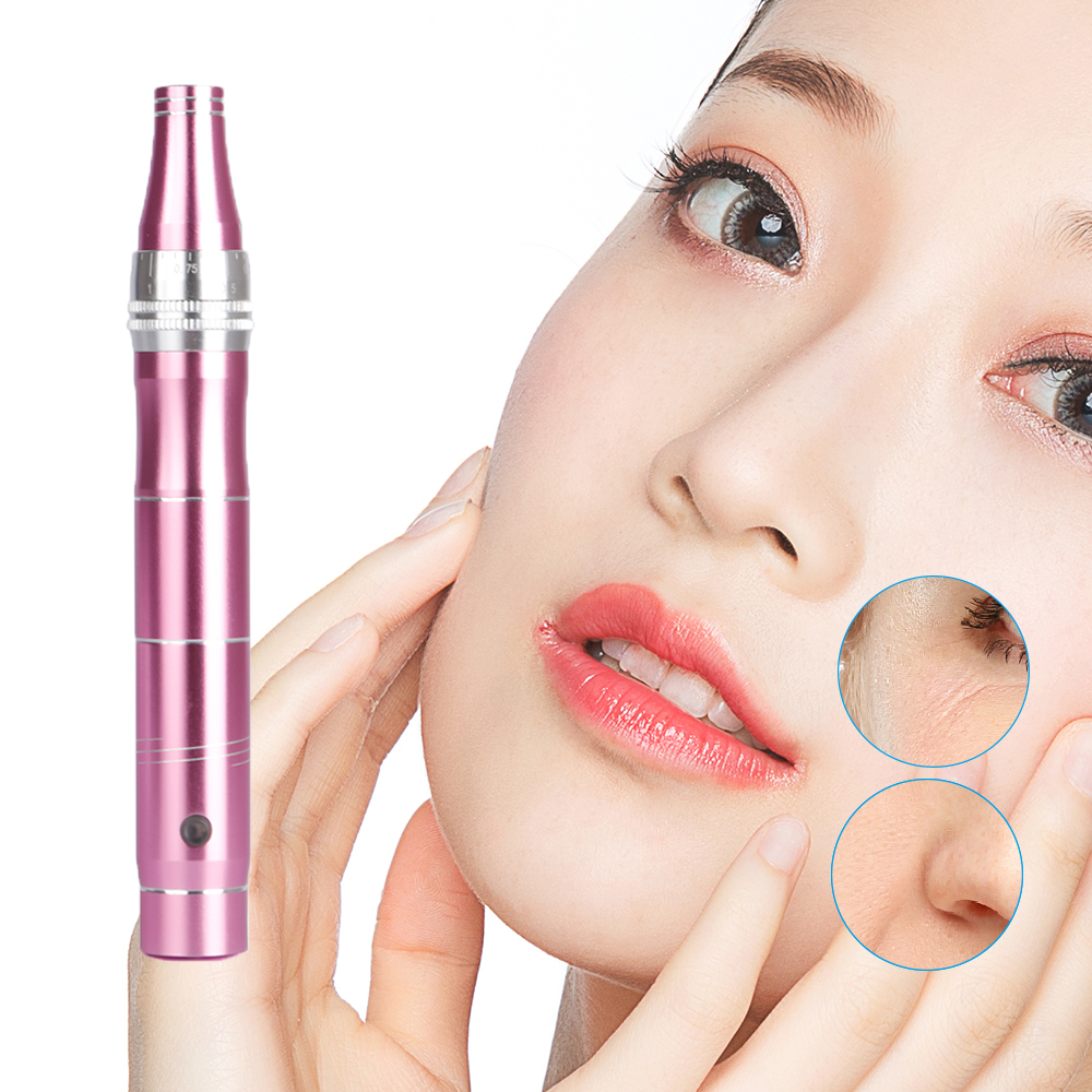 Micro Needles Pen Face Skin Therapy Remove Scar Reduce Wrinkles Removal Device Makeup Micro Needling Facial Care Tool