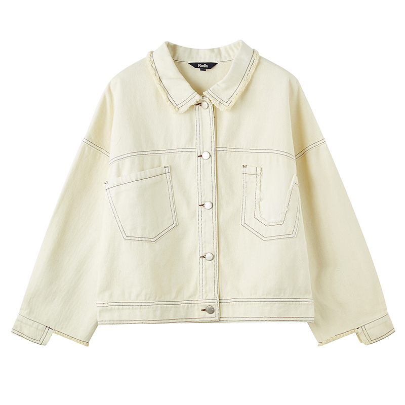 Chaqueta corta primavera nueva versátil herramienta estudiante retro Hong Kong sabor chaqueta mujer marea abrigos y chaquetas Mujer