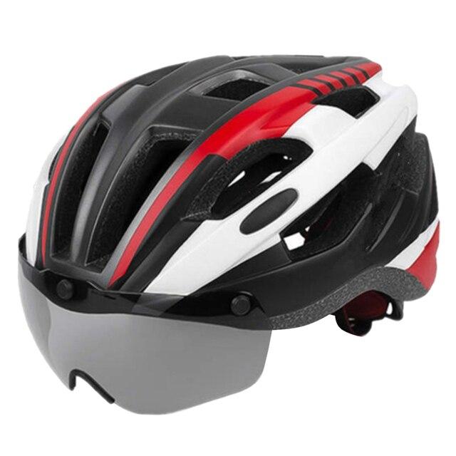 шлем для езды на велосипеде со съемным козырьком очки взрослых фотография