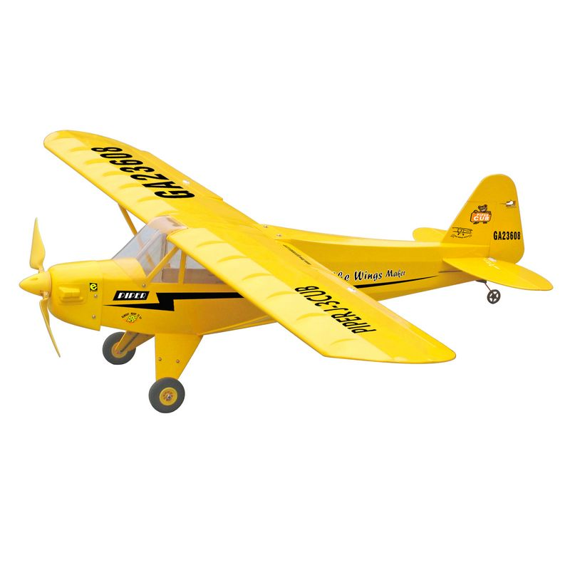 Balsa Wood RC Airplane 48.5 inch/1230 mm Sport Scale Trainer Fix Wing Aircraft Model