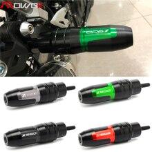 Para kawasaki z900 z800 z750 2012 2020 motocicleta cnc de alumínio crash pads escape sliders crash protector com logotipo