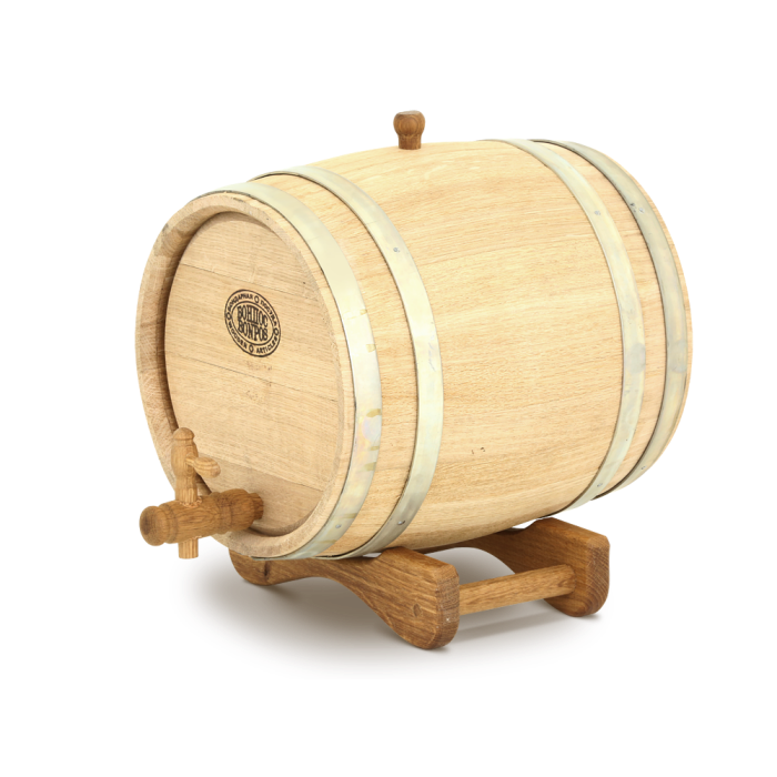 Дубовая Barrel Магарыч Barrel On The Stand With Crane Oak Natural Medium обжиг Barrel For Moonshine And Wine