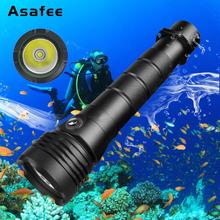 CREE XHP50 LED Diving Flashlight White Yellow light Underwater Waterproof 80m Diving Torch 4000 Lumens LED Scuba Diving Torch