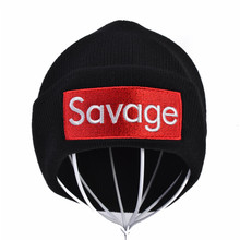 Savage Beanie Hat Winter Letter Embroidery cap For Men Women Knitted Brand Hat Unisex Skullies Caps solid ski gorros hats