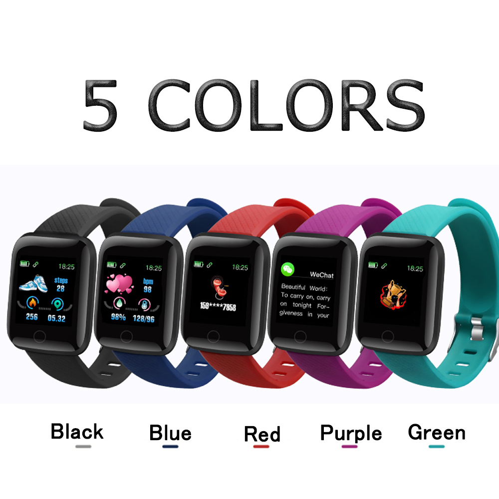 Em Estoque! D13 relógios inteligentes 116 mais freqüência cardíaca relógio inteligente pulseira esportes relógios banda inteligente à prova dwaterproof água smartwatch android a2 6