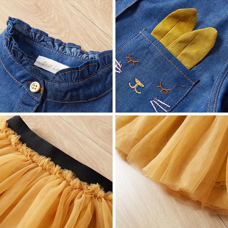 Menoea Children Clothing Suits 19 Autumn Fashion Style Girl Cowboy Long-Sleeve Mesh Dress Design For 3-8Y Kids Girls Sets 20