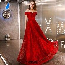 DEERVEADO вечернее платье стиль ТРАПЕЦИЕВИДНОЕ длинное торжественное платье с вырезом лодочкой Вечерние платья на шнуровке сзади вечернее платье YS454