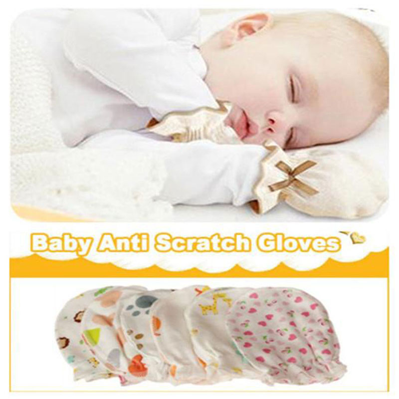2pairs Anti-grasping Newborn Baby Girl//Boy Glove Infant Cotton Handguard