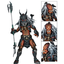 18cm NECA Predator Kenner Leader Clan Chief PVC Action Figure Collection Model Toy neca the terminator 2 action figure t 800 endoskeleton classic figure toy 7 18cm