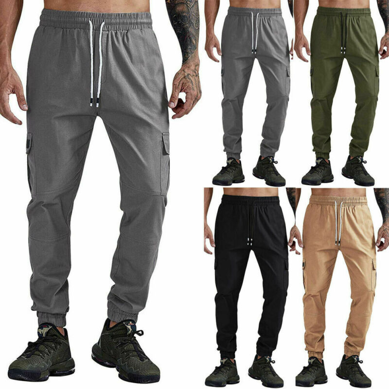 2020 Gothic Men Gym Slim Fit Trousers Tracksuit Bottoms Skinny Joggers Sweatpants Tracksuit Male Casual Skinny Pants