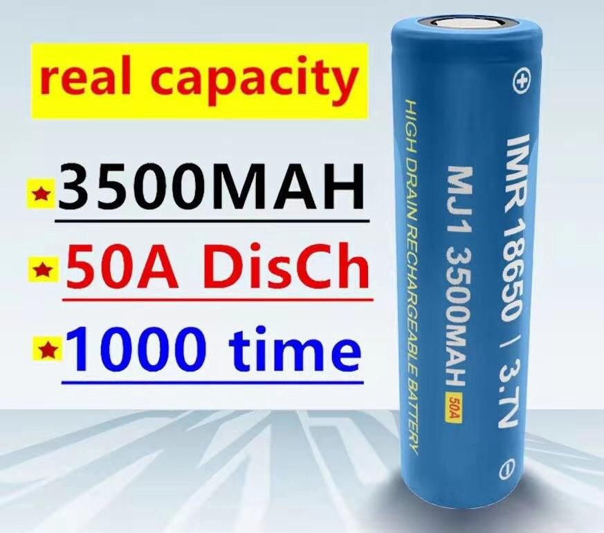1-20 100% original mj1 3.7 v 3500 mah 18650 baterias secundárias de lítio para baterias de lanterna elétrica para baterias mj1 3500 mah