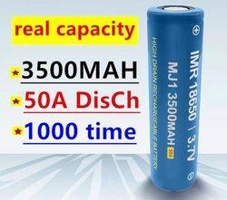 1-20 100% original MJ1 3.7 V 3500 mAh 18650 lithium secondary batteries for flashlight batteries for MJ1 3500mah batteries